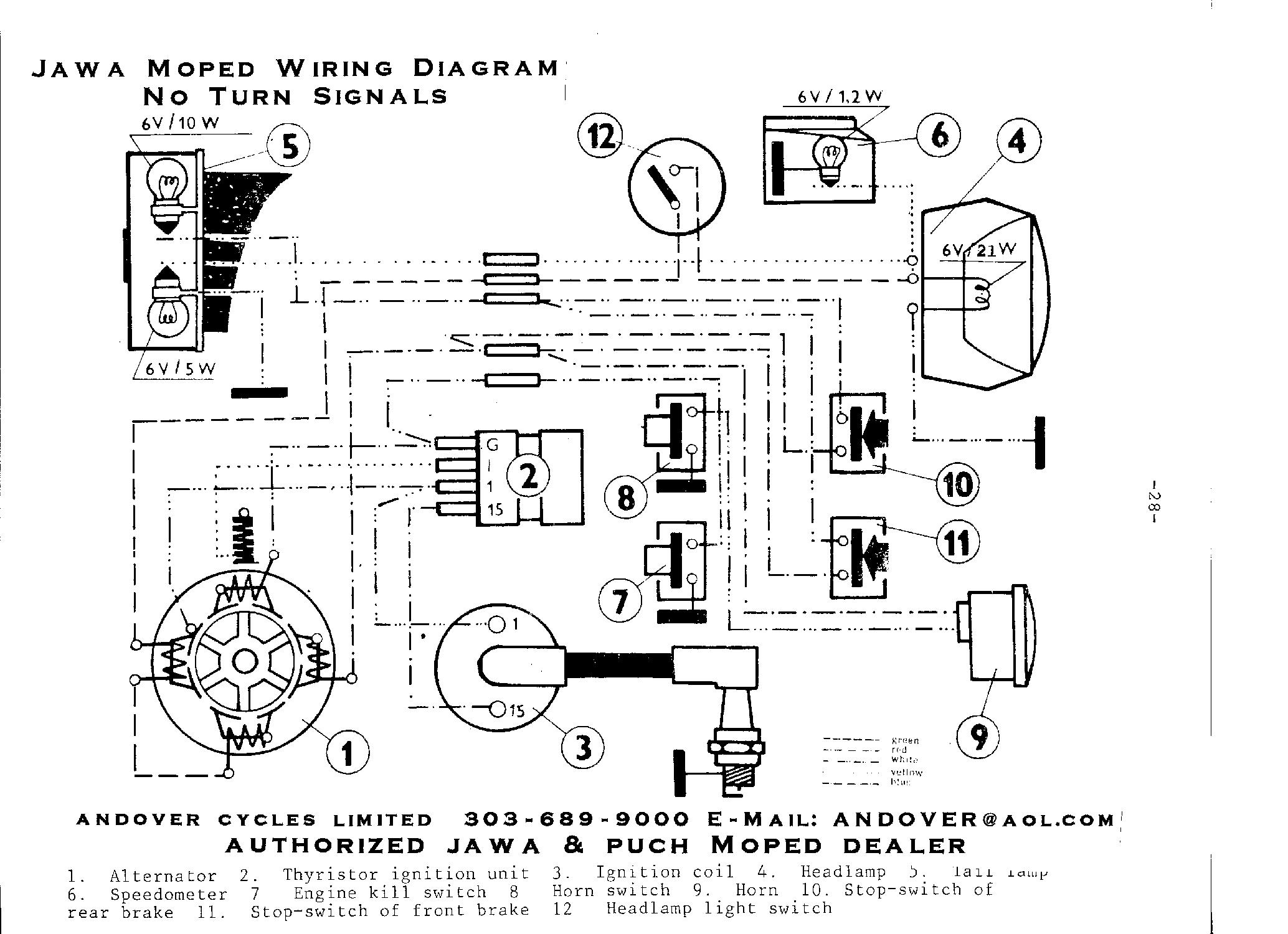 Jawa Moped Wiring Diagram Private Sharing About New Mopeds Rh Moped2 Org
